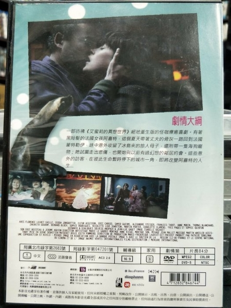 挖寶二手片-P74-004-正版DVD-電影【巴黎海狗:冰島靈魂】-艾蜜莉的異想世界絕地重生版(直購價)