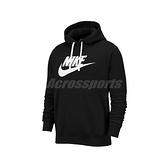 Nike 長袖T恤 NSW Club Fleece Pullover Hoodie 黑 白 男款 帽T 運動休閒 【ACS】 BV2974-010