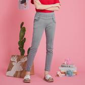 【中大尺碼】MIT雙腰羅紋口袋牛仔長褲