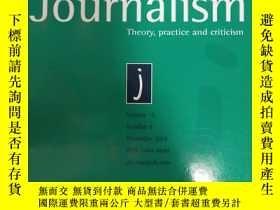 二手書博民逛書店Journalism罕見Volume 15 Number 8 November 2014Y21714 Theo