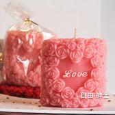 浪漫蠟燭玫瑰花LOVE無煙蠟燭浪漫燭光晚餐驚喜情人節七夕套餐求婚香薰 1件免運