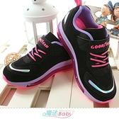 中大女童運動鞋 全掌氣墊緩震多功能跑鞋 魔法Baby