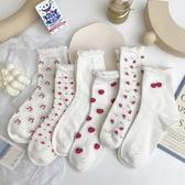堅果媽咪 洛麗塔可愛草莓襪子女jk日系軟妹學生白色中筒襪lolita 非凡小鋪