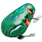 兒童上錬發條鐵皮青蛙小雞80後懷舊上弦小青蛙玩具跳跳蛙彈跳嬰兒 快速出貨
