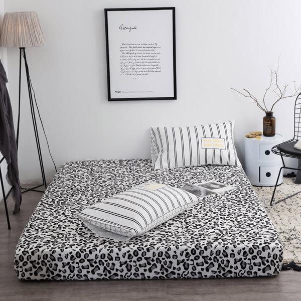 TOOKI & CO【Z433292】(標準單人床適用)多款圖案幾何造型整圈鬆緊帶設計棉質床包/床笠/寢具-Leap