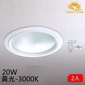 HONEY COMB 大尺寸LED 20W 崁燈 2入一組TK5006-20-3 黃光