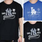 MLB 大聯盟 2016 短袖 棉質 胸口隊徽 LOGO短T 道奇 洋基 兩款 5630214-  ☆SP☆