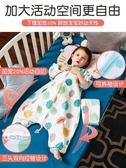 睡袋 紗布睡袋嬰兒夏季薄款春秋分腿寶寶睡袋兒童防踢被夏天四季通用款 夢藝