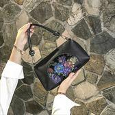 小包包女2019新款手提包中老年人軟皮媽媽包老人包中年單肩斜挎包