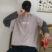 長袖T恤 長袖t恤男潮ins假兩件打底衫初秋季新款正韓秋衣潮流寬鬆薄款帽T