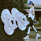 運動涼鞋女軟底輕便潮舒適超軟厚底夏季網紗老爹涼鞋【時尚大衣櫥】