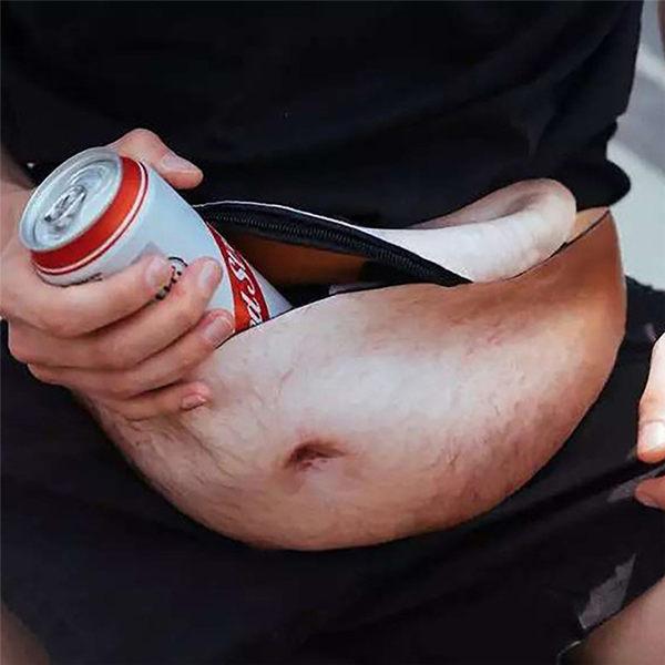 【03086】 啤酒肚腰包 大肚腩 肚腩錢包 肥肚腰包 聖誕節交換禮物 生日禮物 整人