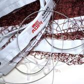 球網標準羽毛球網鋼絲加固便攜防雨防曬簡易球網 球館比賽羽網【好康八八折】