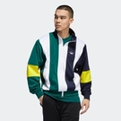 ISNEAKERS Adidas originals 愛迪達 藍白綠黃 拼接 男款 風衣外套 運動外套 EJ7114