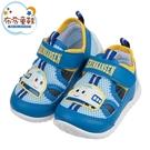 《布布童鞋》三麗鷗新幹線小電車可愛藍色透氣兒童休閒鞋(14~18公分) [ C1F435B ]