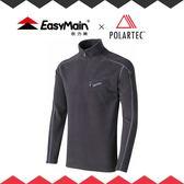 【EasyMain 男 高效能輕暖休閒衫《灰》】快乾機能衣/戶外中層衣/立領Polo衫/SE17067-70