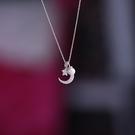 純銀項鍊女星星月亮珍珠吊墜 時尚鎖骨鍊七夕禮物