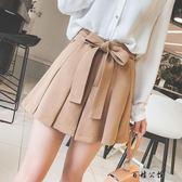 高腰百褶半身裙褲裙chic短裙