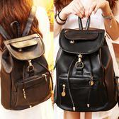 後背包 書包2018大容量雙肩包韓版學生軟皮簡約pu背包