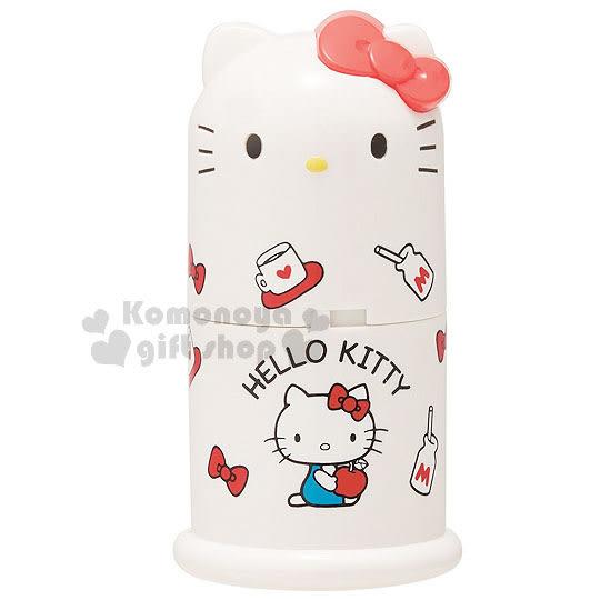〔小禮堂〕Hello Kitty 造型牙籤罐《白.大臉.蝴蝶結.坐姿.牛奶》70年代系列 4973307-36515