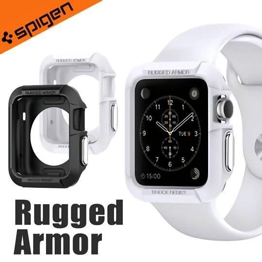 強強滾SGP 韓國Spigen Rugged Armor Apple Watch Series1/2/3運動型防刮保護殼