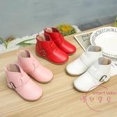 兒童靴子 新款女童靴子中筒百搭皮靴秋冬季中小童兒童單靴女兒童學步鞋【八二折鉅惠】