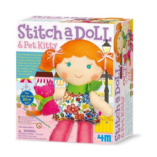 【4M】02766 美勞創作-逛街女孩 Stitch a doll Go Shopping
