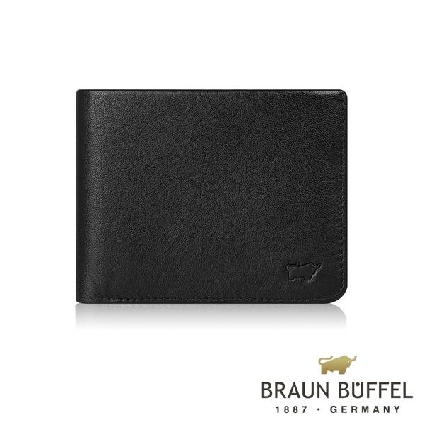 【BRAUN BUFFEL德國小金牛】提洛斯R系列8卡皮夾(時尚黑) BF335-R313-BK