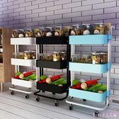 廚房可移動置物架 落地多層功能手推車廚具家用品小百貨儲物收納架子 DR22227【Rose中大尺碼】