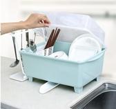 碗柜塑料帶蓋廚房瀝水架碗碟架多功能 置物架
