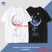 短袖T恤男新款情侶裝夏季IG潮牌寬松女學生純棉衣服【西語99】