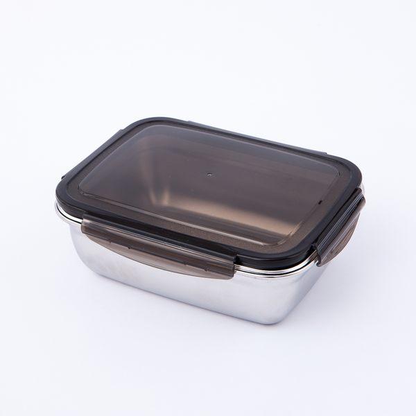 鮮廚煮義不鏽鋼304保鮮盒1800ml-生活工場