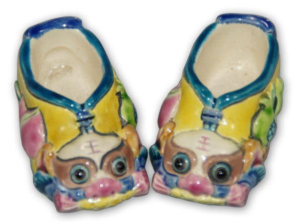 鹿港窯-居家開運擺飾-台灣國寶交趾陶~SS虎鞋對◆附精美包裝