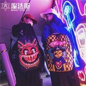 後背包男街頭潮流時尚背包新款潮牌街拍個性嘻哈學生 魔法街