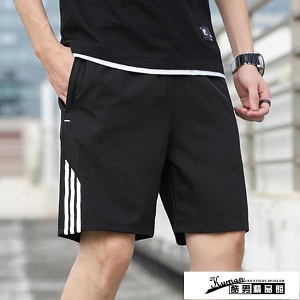 棉麻短褲 潮流寬鬆大碼休閒五分褲外穿運動跑步健身速幹沙灘褲子 酷男