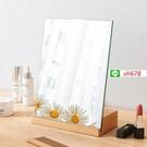 木質化妝鏡臺式便攜臥室桌面大號北歐梳妝鏡學生宿舍小鏡子美妝鏡【頁面價格是訂金價格】
