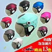 (安全帽)【A-NING】泡泡鏡雪帽抗UV鏡片