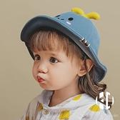 嬰兒帽子春秋薄款男童女童可愛超萌兒童防曬帽寶寶遮陽帽漁夫帽【Kacey Devlin】