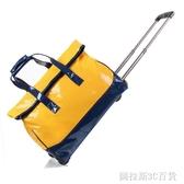大容量拉桿包女行李包手提旅行包拉桿包包折疊包子漆皮男 QM圖拉斯3C百貨