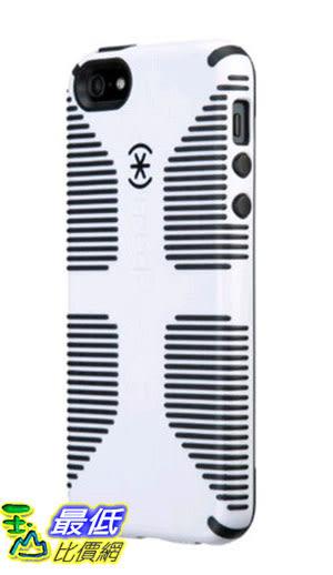 [105美國直購] Speck Products CandyShell Grip Case for iPhone SE/5/5S -Retail Packaging- White/Black