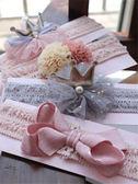 女寶寶公主皇冠蝴蝶結發帶兒童發飾0-6-12個月新生嬰兒滿月禮 艾維朵