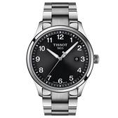 TISSOT 天梭 紳士XL經典石英手錶-黑x銀/41mm T1164101105700