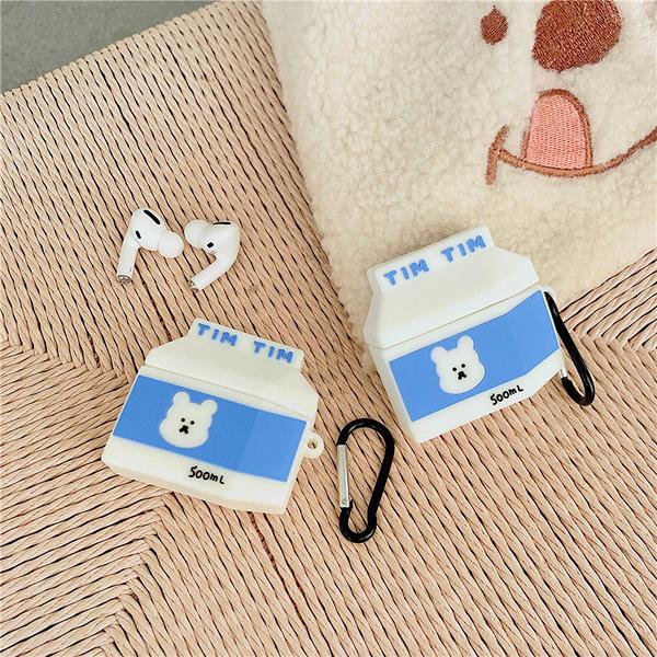 Airpods Pro 專用 台灣發貨 [ 藍色小熊牛奶盒 ] 藍芽耳機保護套 蘋果無線耳機保護