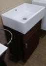 【麗室衛浴】門市品出清 無孔面盆+防水發泡板木紋浴櫃 51*36*含櫃H75CM