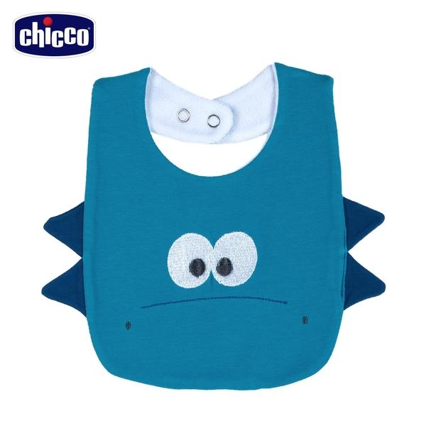 chicco-快樂恐龍-立體造型圍兜-藍