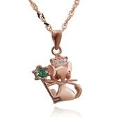項鍊 925純銀鑲鑽吊墜-可愛小貓生日聖誕節交換禮物女飾品2色73dk476[時尚巴黎]