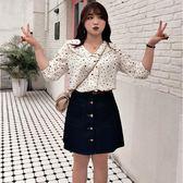 中大尺碼 娃娃領波點襯衫上衣 - 適XL~5L《 67032HH 》CC-GIRL