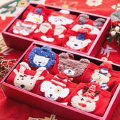 圣誕節禮盒襪子女生秋冬日繫可愛大紅襪情侶純棉韓國中筒襪圣誕襪 亞斯藍