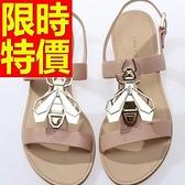 涼鞋-平底時尚經典質感好搭女休閒鞋56l61[巴黎精品]