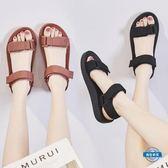 鞋子 拖鞋羅馬鞋涼鞋女新款女鞋夏季仙女風潮時尚平底羅馬鞋運動學生